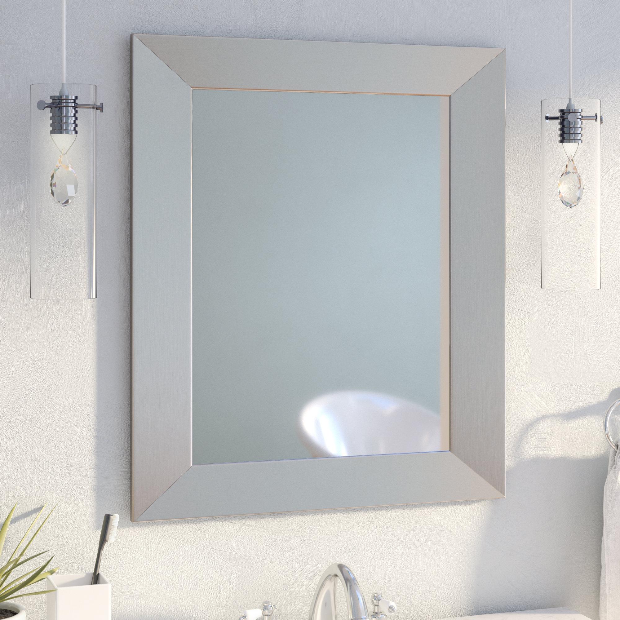 35 Inch Round Mirror | Wayfair Pertaining To Lidya Frameless Beveled Wall Mirrors (View 9 of 20)
