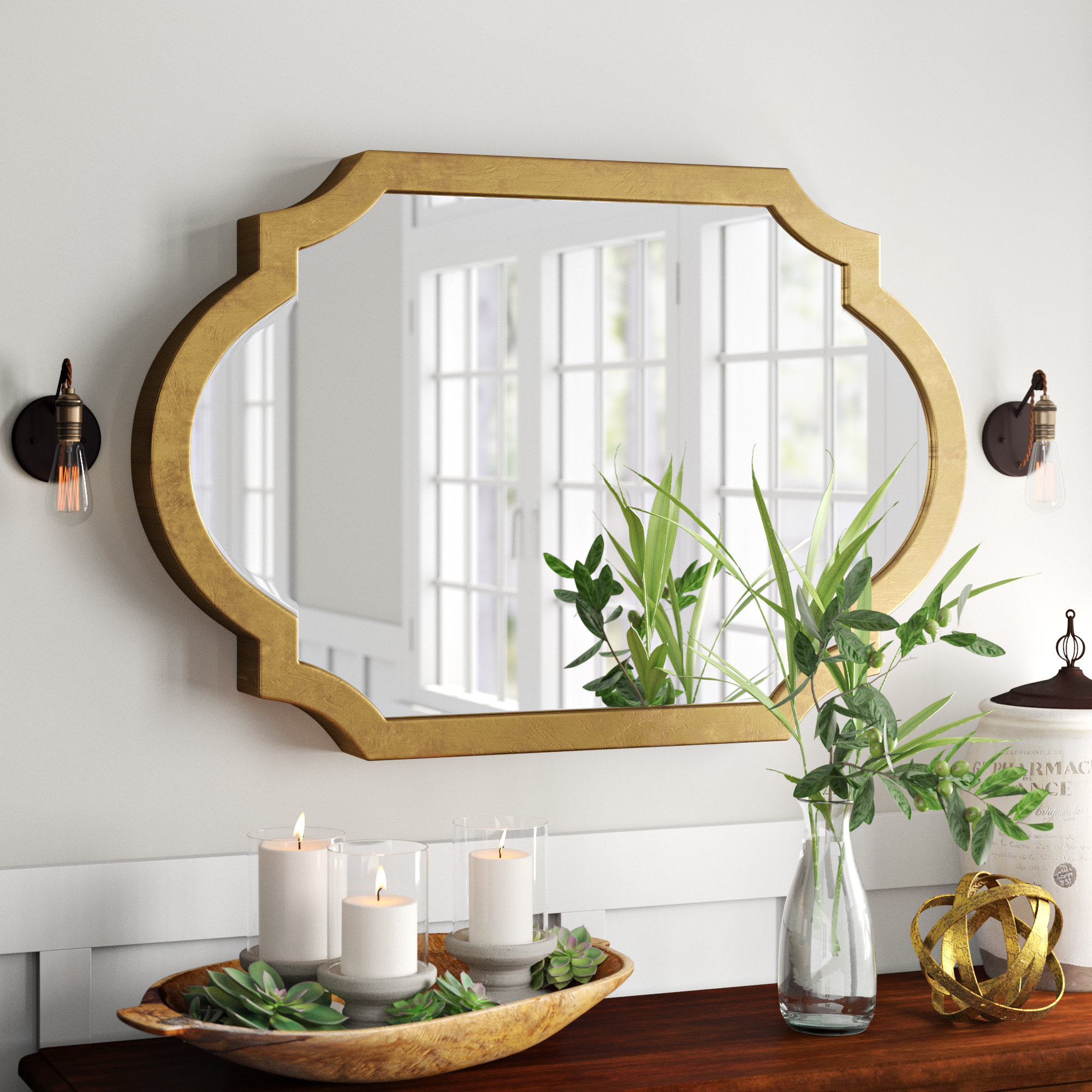35 X 50 Mirror | Wayfair In Dekalb Modern & Contemporary Distressed Accent Mirrors (Photo 16 of 20)