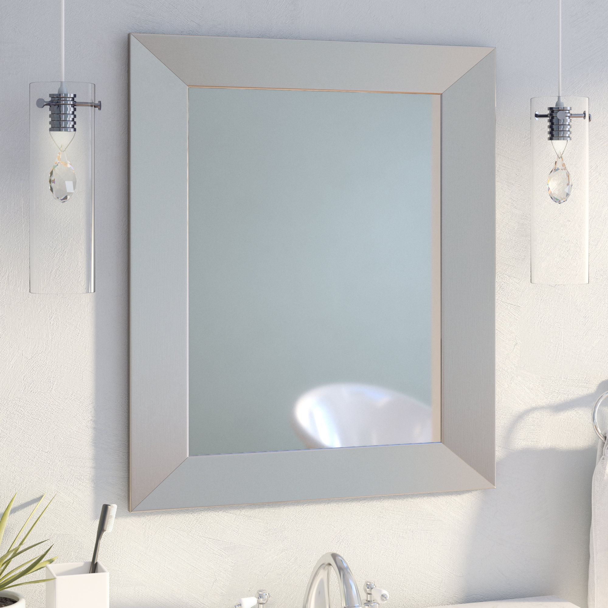 36 X 60 Wall Mirror | Wayfair Throughout Caja Rectangle Glass Frame Wall Mirrors (View 15 of 20)