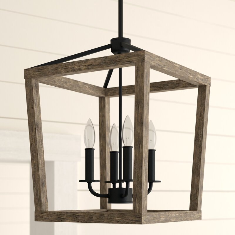 4 Light Lantern Square / Rectangle Pendant For 4 Light Lantern Square / Rectangle Pendants (Image 1 of 20)