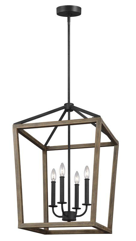 4 Light Lantern Square / Rectangle Pendant In 2019 In 4 Light Lantern Square / Rectangle Pendants (Image 2 of 20)