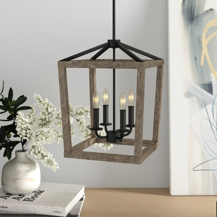 4 Light Lantern Square / Rectangle Pendant Within 4 Light Lantern Square / Rectangle Pendants (Image 6 of 20)