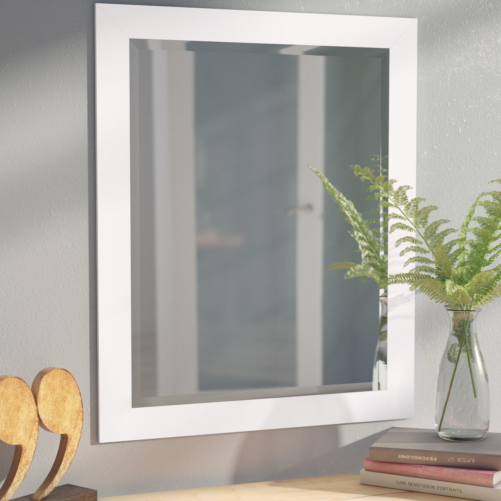40 Inch Beveled Mirror | Wayfair Pertaining To Lidya Frameless Beveled Wall Mirrors (View 15 of 20)