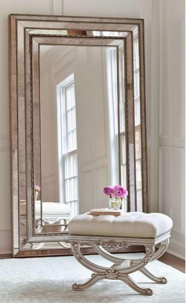 43+ Inspiring Large Wall Mirror Ideas #homedecorideas Inside Lake Park Beveled Beaded Accent Wall Mirrors (View 20 of 20)