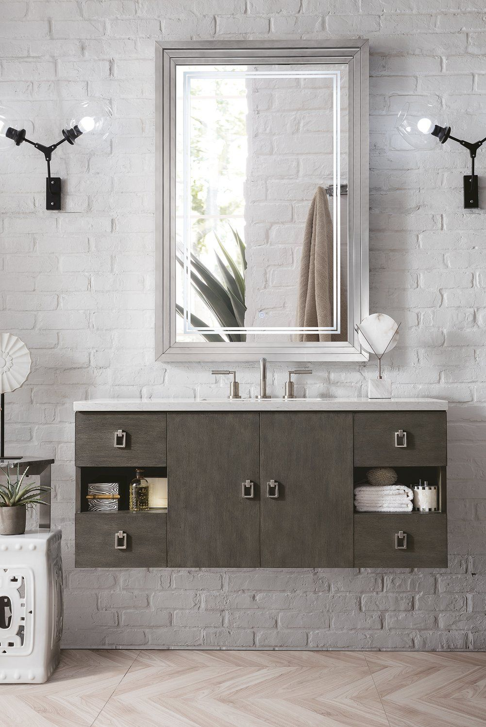 "48"" Sonoma Single Bathroom Vanity, Silver Oak In 2019 