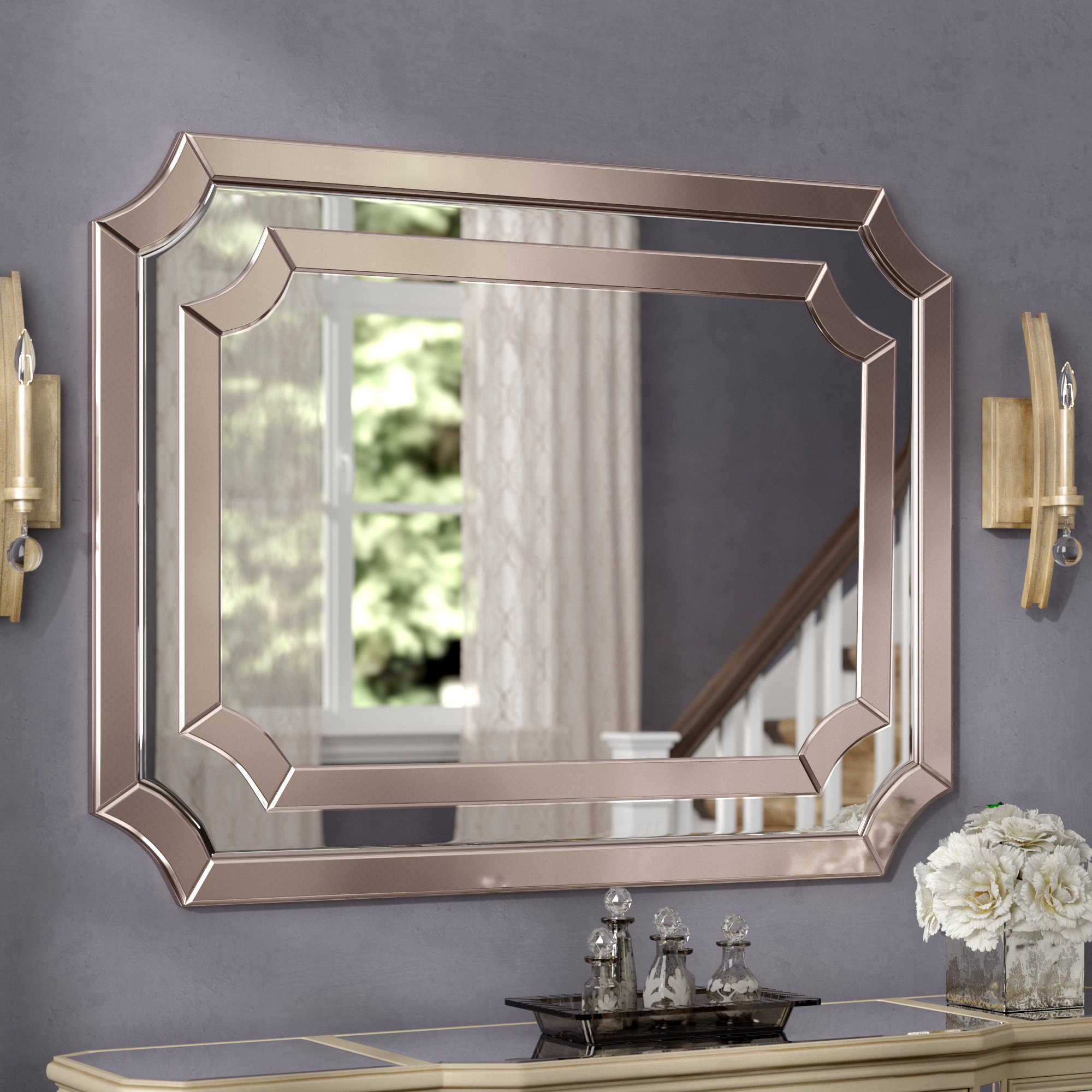 48 X 36 Mirror | Wayfair Throughout Diamondville Modern & Contemporary Distressed Accent Mirrors (Photo 4 of 20)