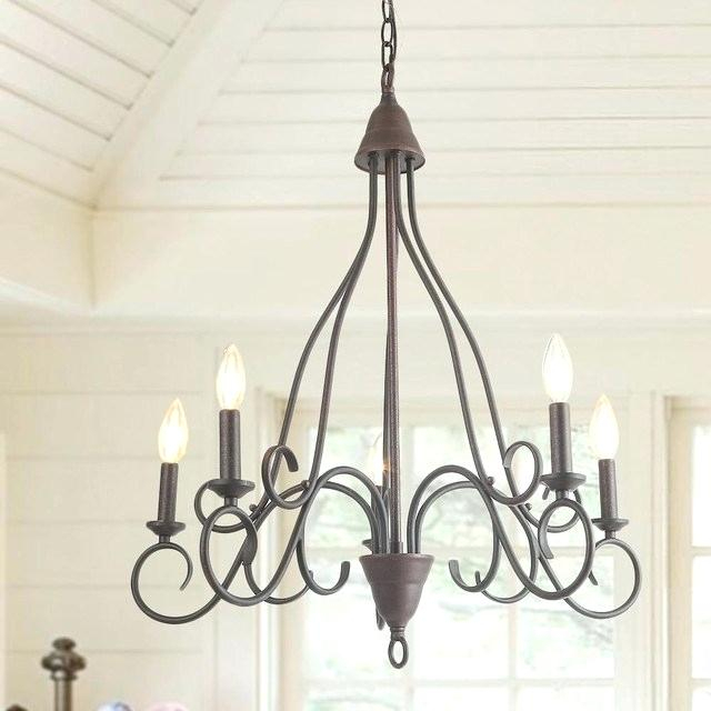 5 Candle Chandelier – Purrfectcatgifts (View 13 of 20)