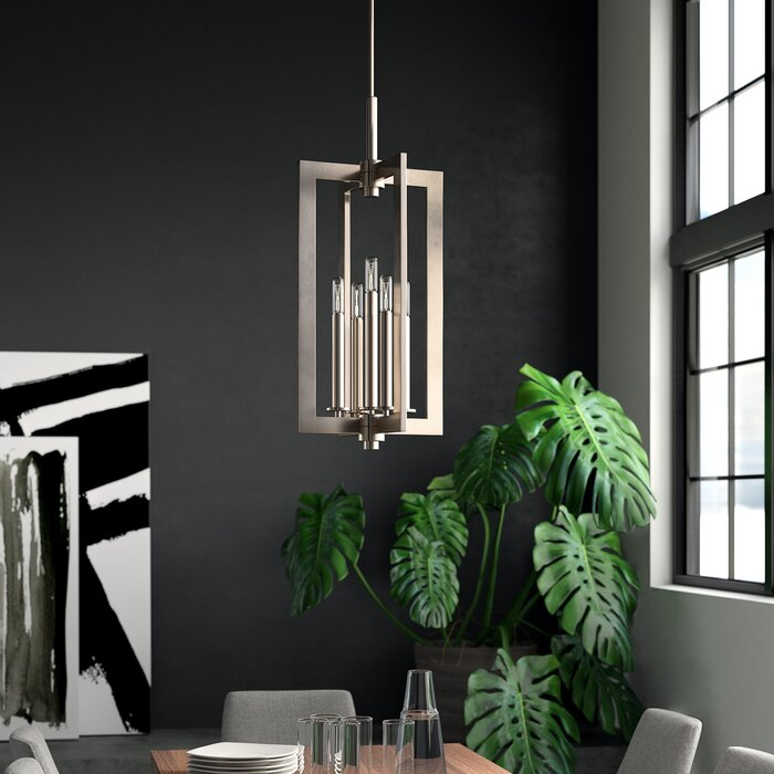 5 Light Square/rectangle Chandelier In Berger 5 Light Candle Style Chandeliers (View 13 of 20)