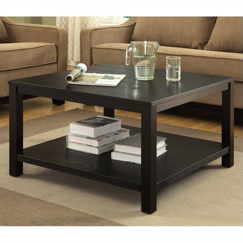 57 30 Inch Square Coffee Table, Avenue Six Merge Black 30 With Regard To Paris Natural Wood And Iron 30 Inch Square Coffee Tables (View 2 of 25)