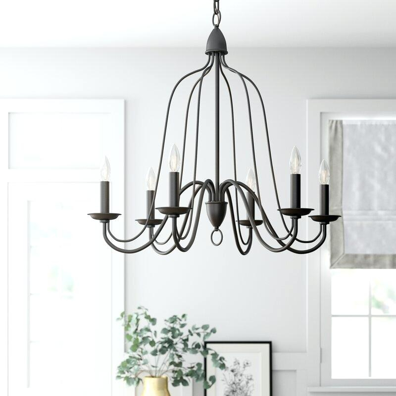 6 Light Candle Style Chandelier Bennington – Pulpitis With Regard To Bennington 4 Light Candle Style Chandeliers (View 17 of 20)