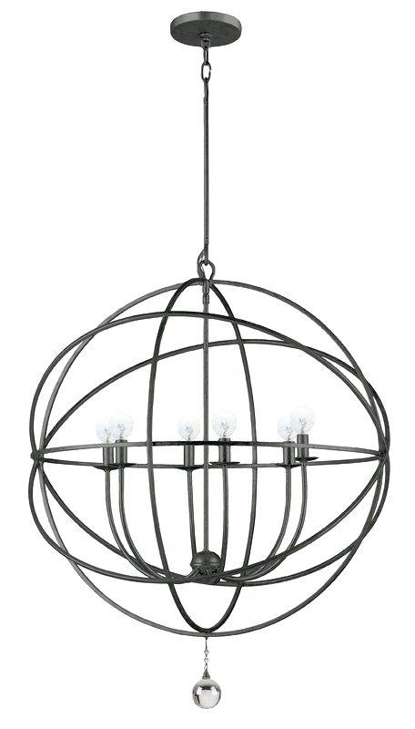 6 Light Globe Chandelier – Luwalcott (Image 1 of 20)