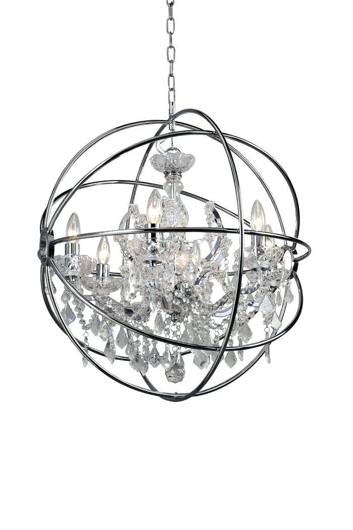 6 Light Globe Chandelier – Luwalcott (View 18 of 20)