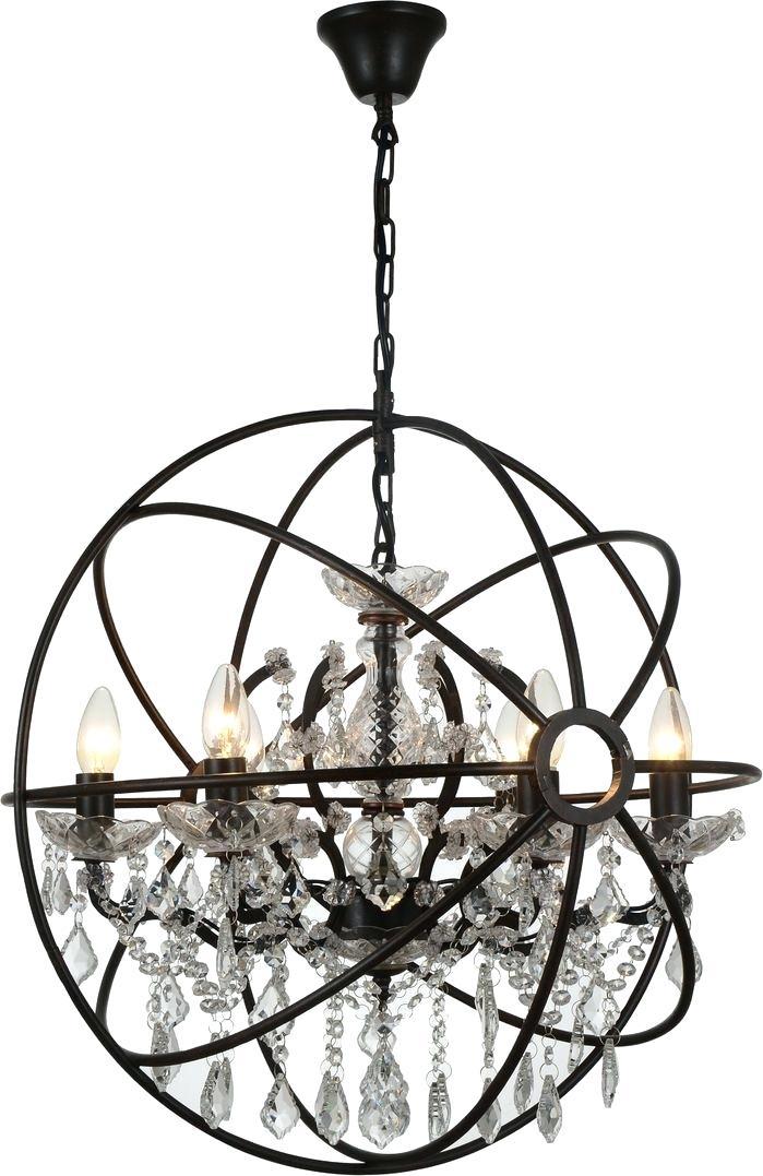 6 Light Globe Chandelier – Luwalcott (Image 3 of 20)