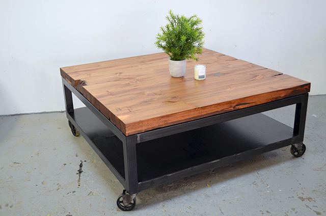 63 Table Industrial Casters, Tribeca Industrial Mesh Drawer Inside Montgomery Industrial Reclaimed Wood Coffee Tables With Casters (View 45 of 50)