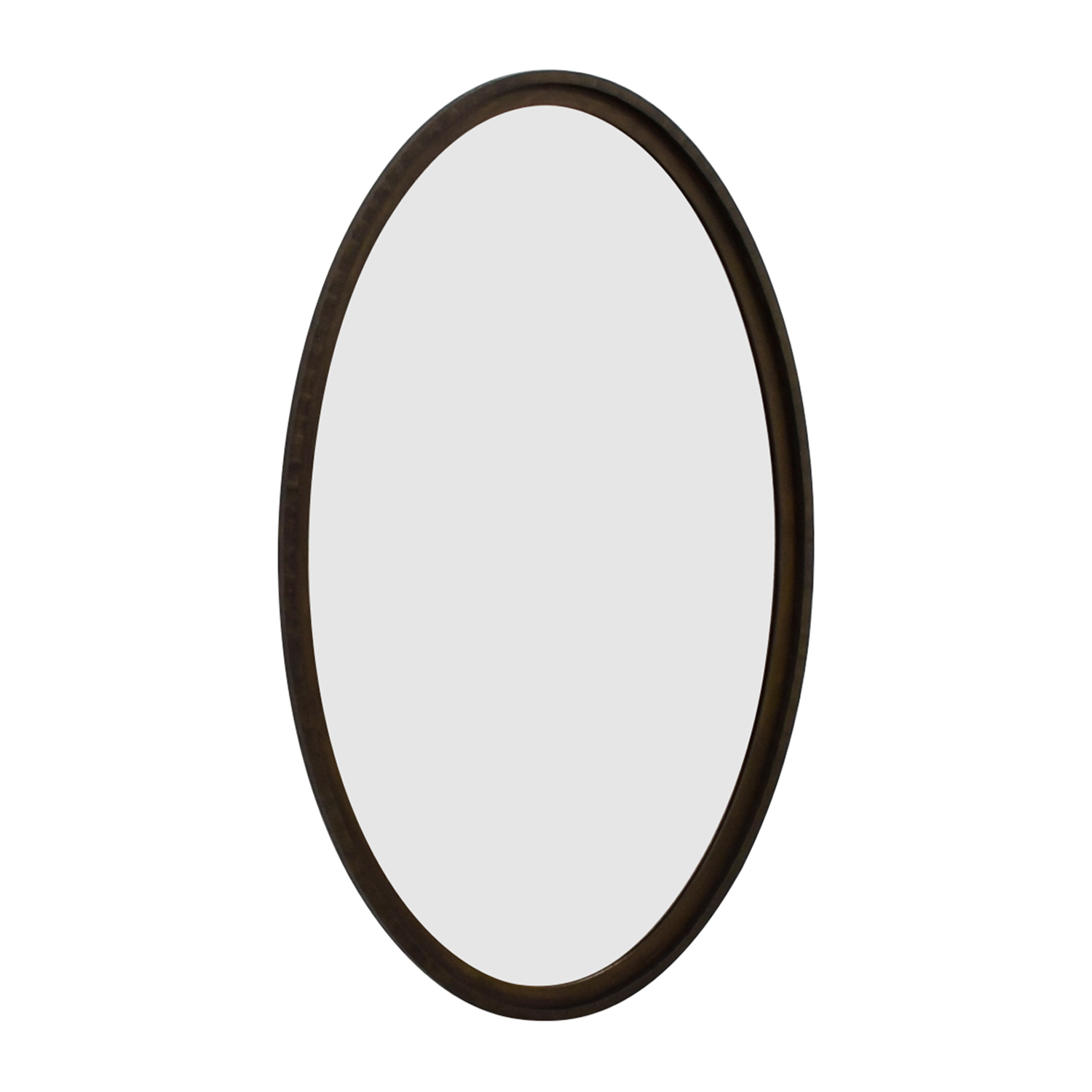 84% Off – Crate & Barrel Crate & Barrel Oval Wood Framed Wall Mirror / Decor For Oval Wood Wall Mirrors (View 15 of 20)