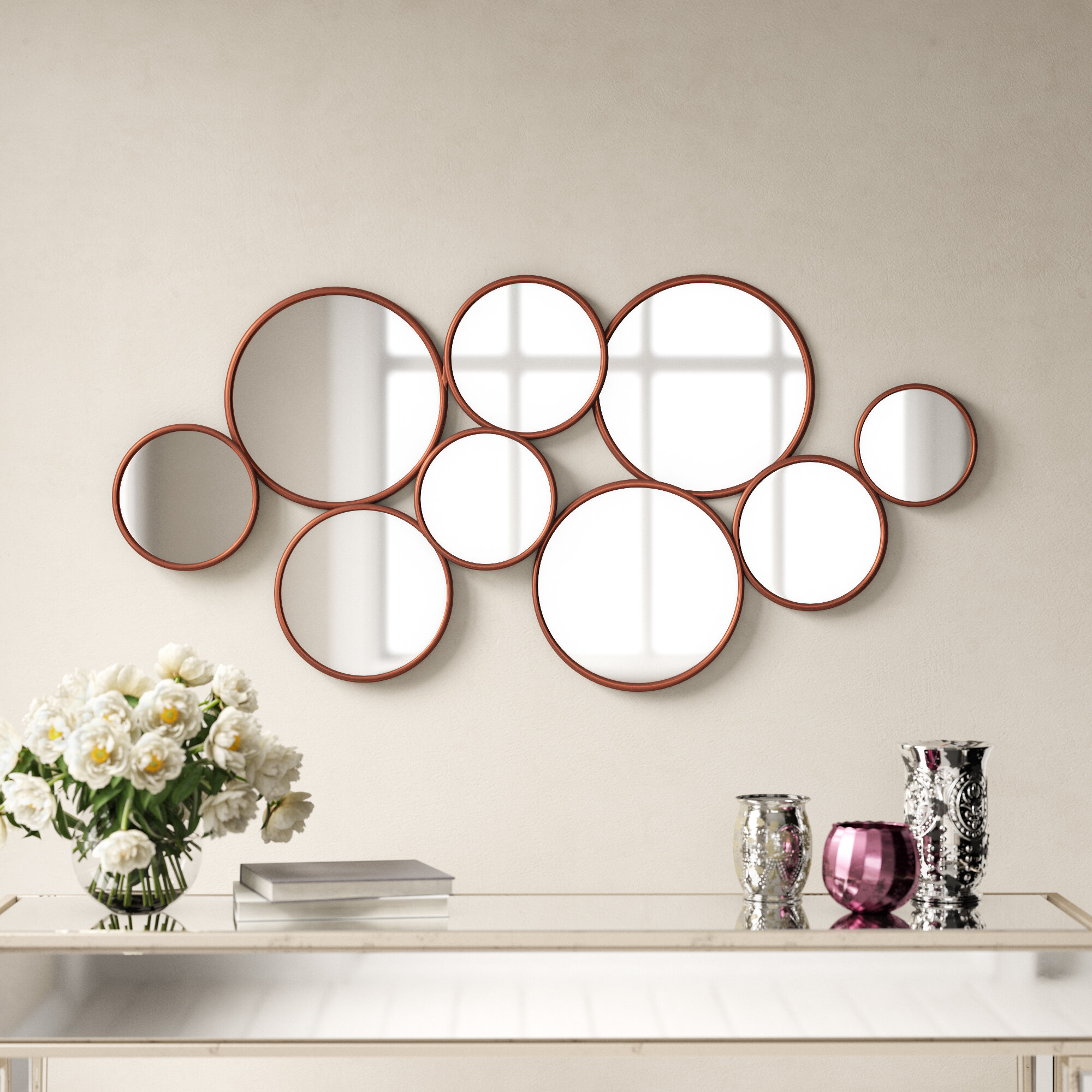 9 Piece Antony Accent Mirror Set With Accent Mirrors (Photo 13 of 20)