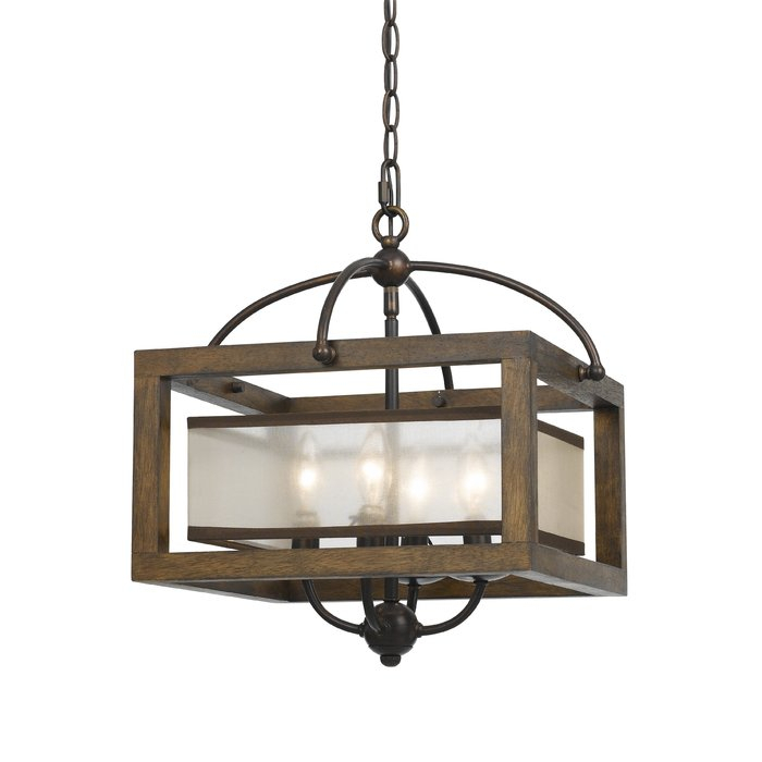 Aadhya 4 Light Square/rectangle Chandelier With Aadhya 5 Light Drum Chandeliers (Image 3 of 20)