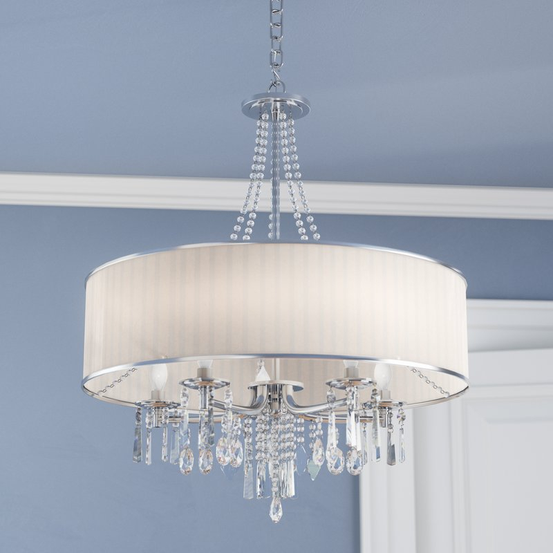 Abel 5 Light Drum Chandelier With Abel 5 Light Drum Chandeliers (Photo 1 of 20)