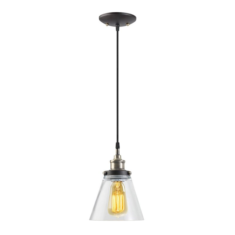 Abelia 1 Light Single Cone Pendant With Regard To Finlayson Iron Gate 1 Light Single Bell Pendants (View 9 of 25)