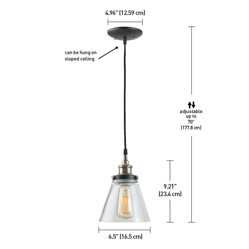 Abelia 3 Light Cone Pendant Regarding Adriana Black 1 Light Single Dome Pendants (Image 1 of 25)