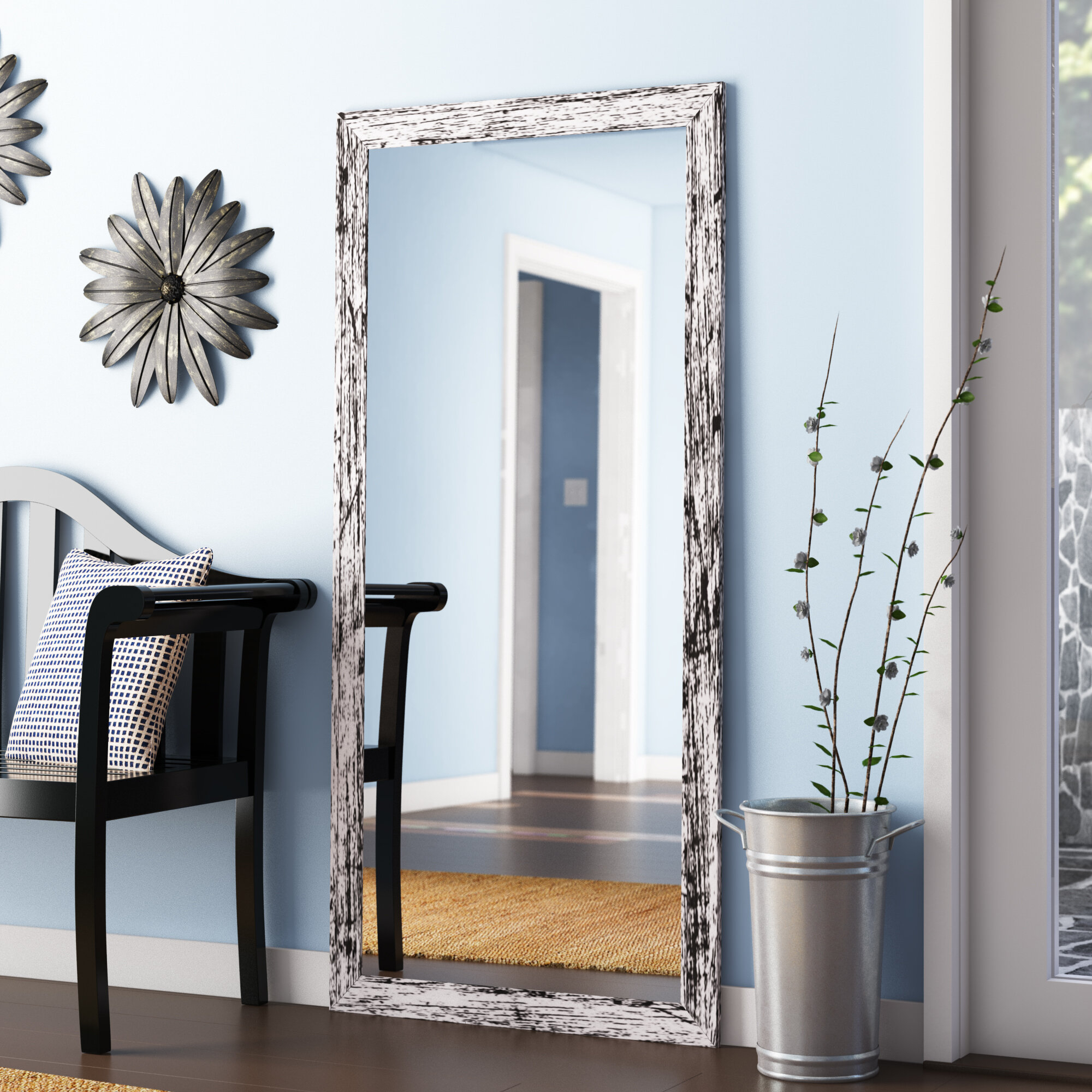 Accent Large & Oversized Mirrors You'll Love In 2019 | Wayfair In Handcrafted Farmhouse Full Length Mirrors (Image 3 of 20)