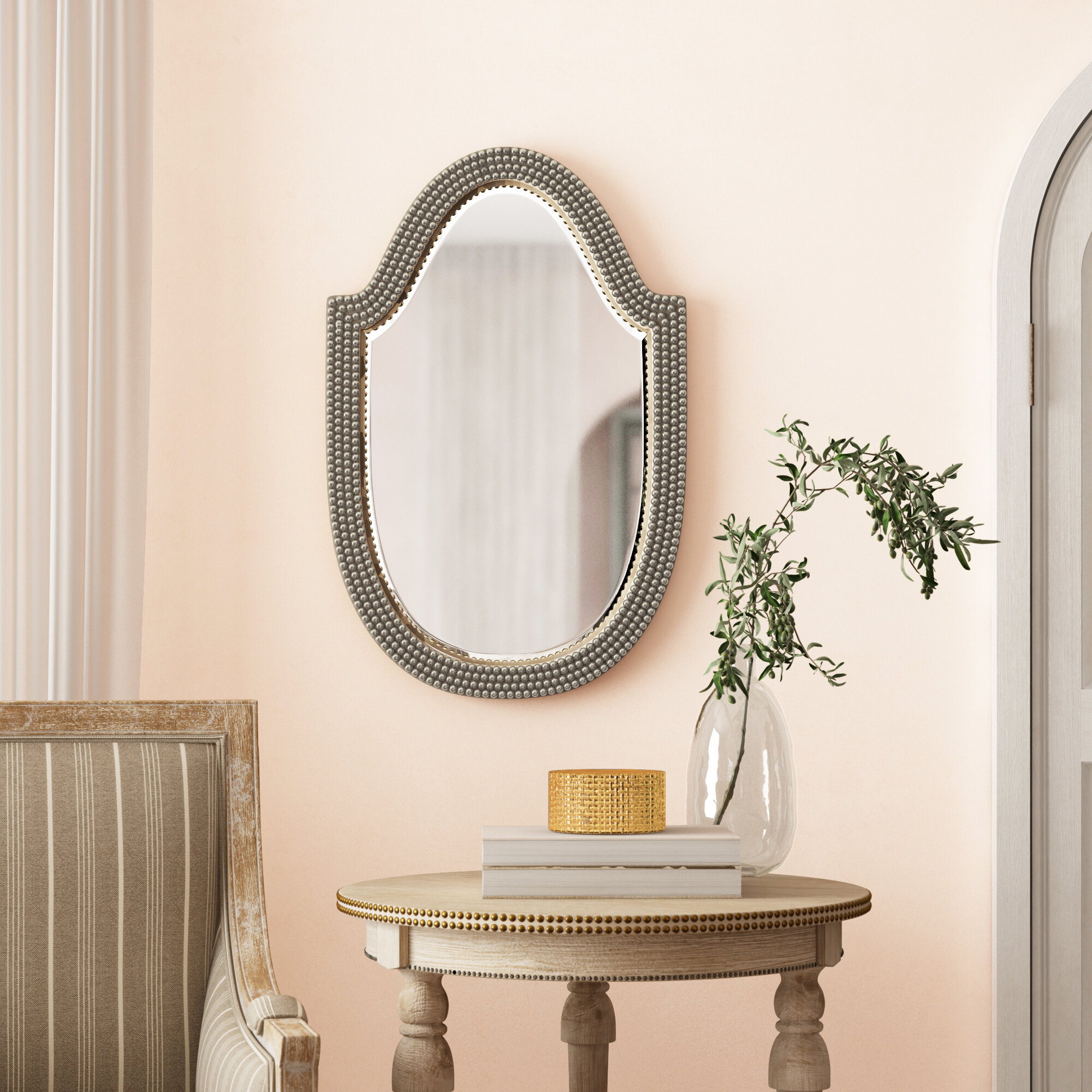 Accent Mirror & Reviews | Birch Lane Regarding Glen View Beaded Oval Traditional Accent Mirrors (View 13 of 20)