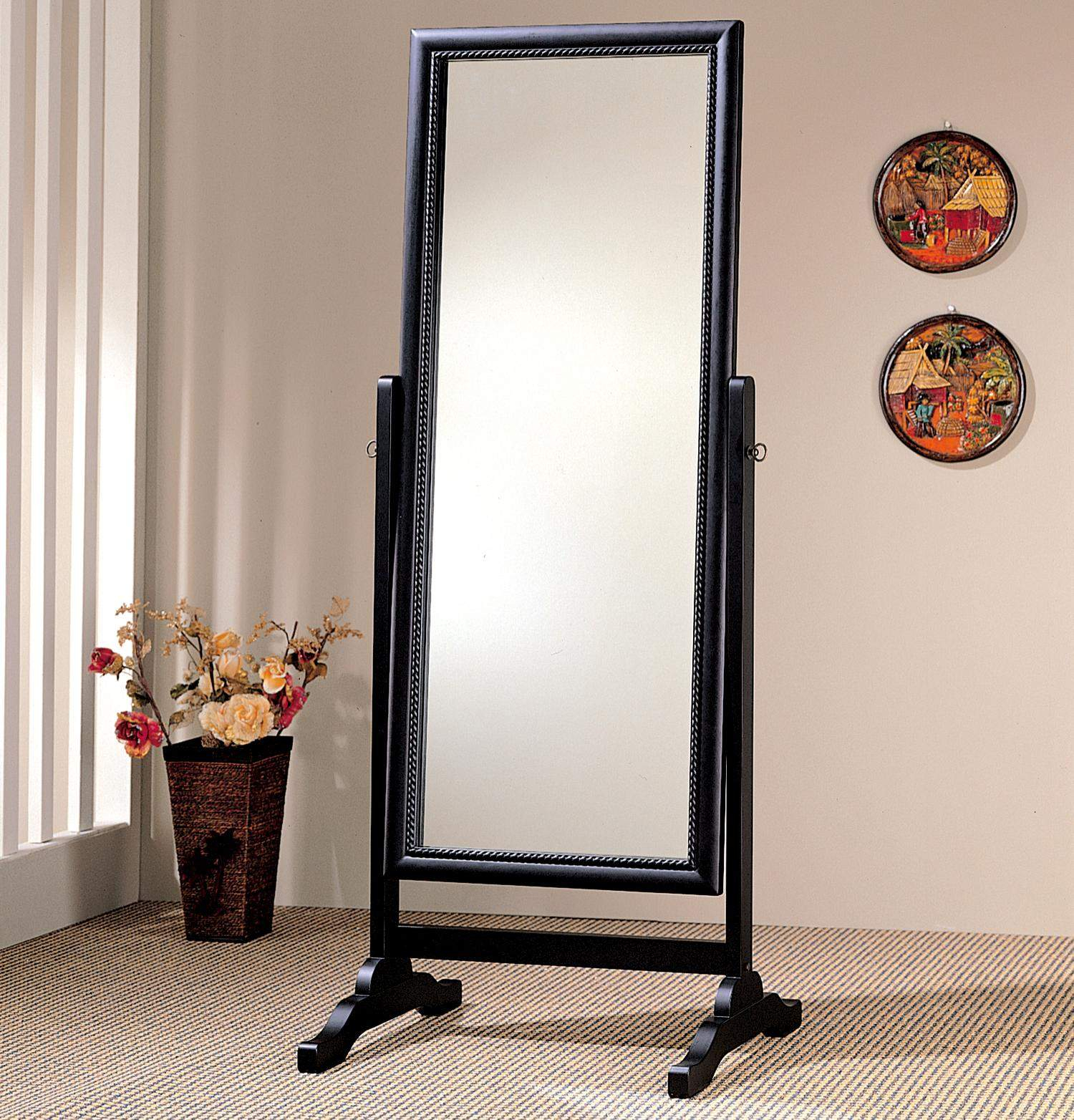 Accent Mirrors Black Rectangular Cheval Mirror Inside Rectangle Accent Mirrors (View 20 of 20)
