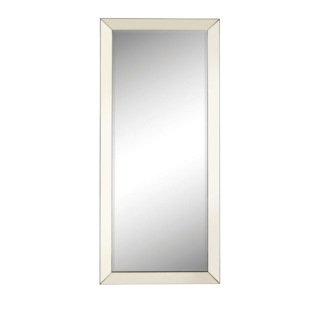 Accent Mirrors Contemporary Floor Mirror With Mirrored Frame In Silver Frame Accent Mirrors (View 7 of 20)