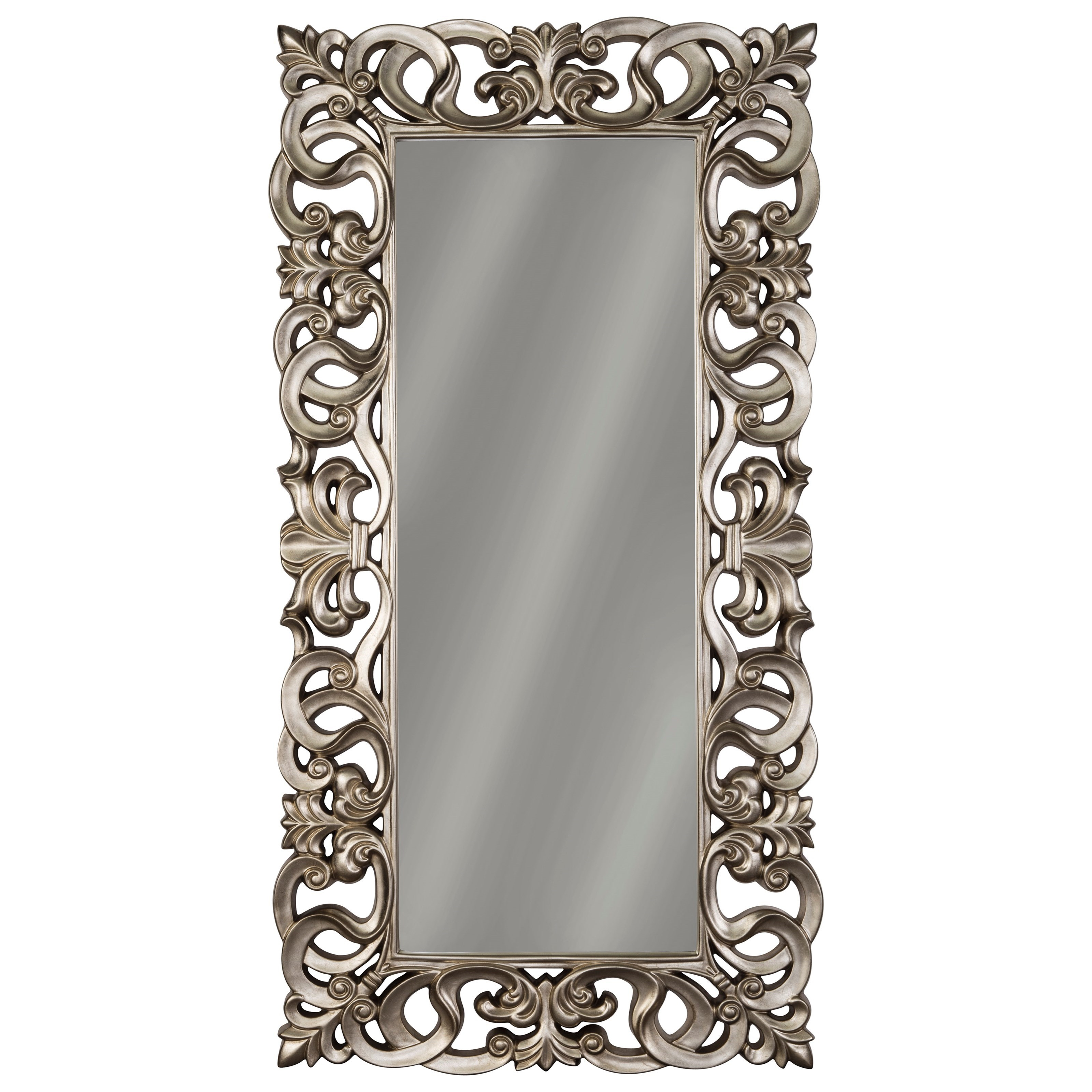 Accent Mirrors Lucia Antique Silver Finish Accent Mirrorsignature Designashley At Becker Furniture World Throughout Rectangle Accent Mirrors (View 8 of 20)