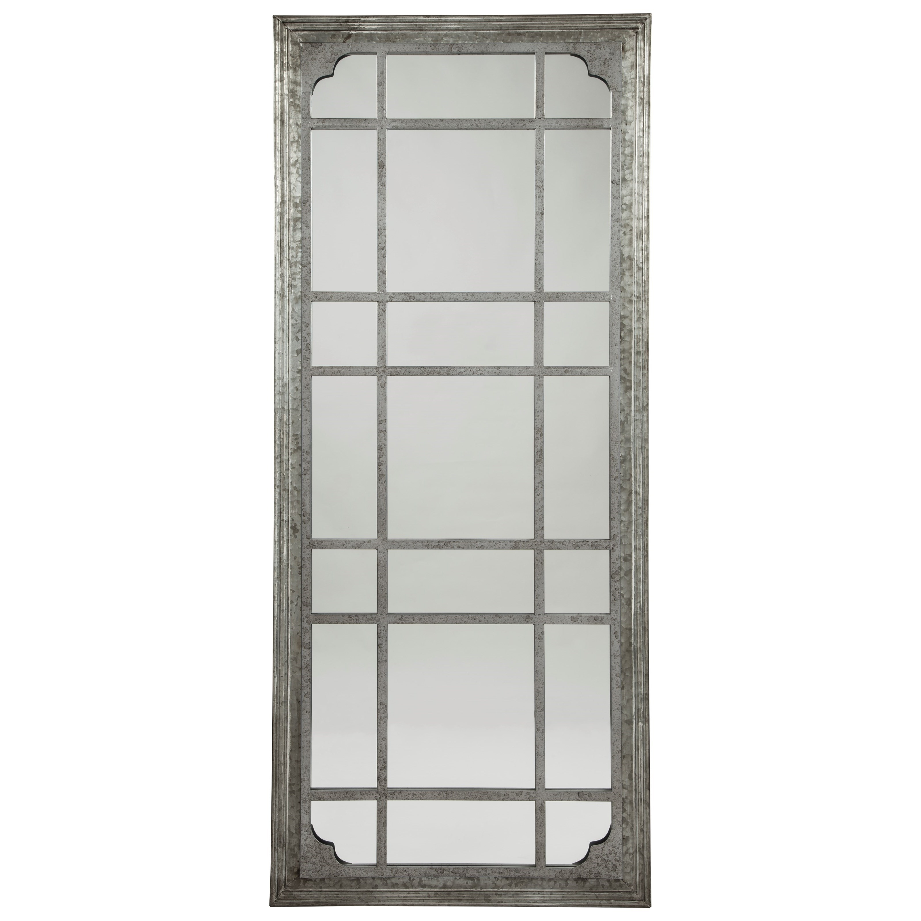 Accent Mirrors Remy Antique Gray Accent Mirrorashley Signature Design  At Dunk & Bright Furniture Pertaining To Accent Mirrors (Image 7 of 20)