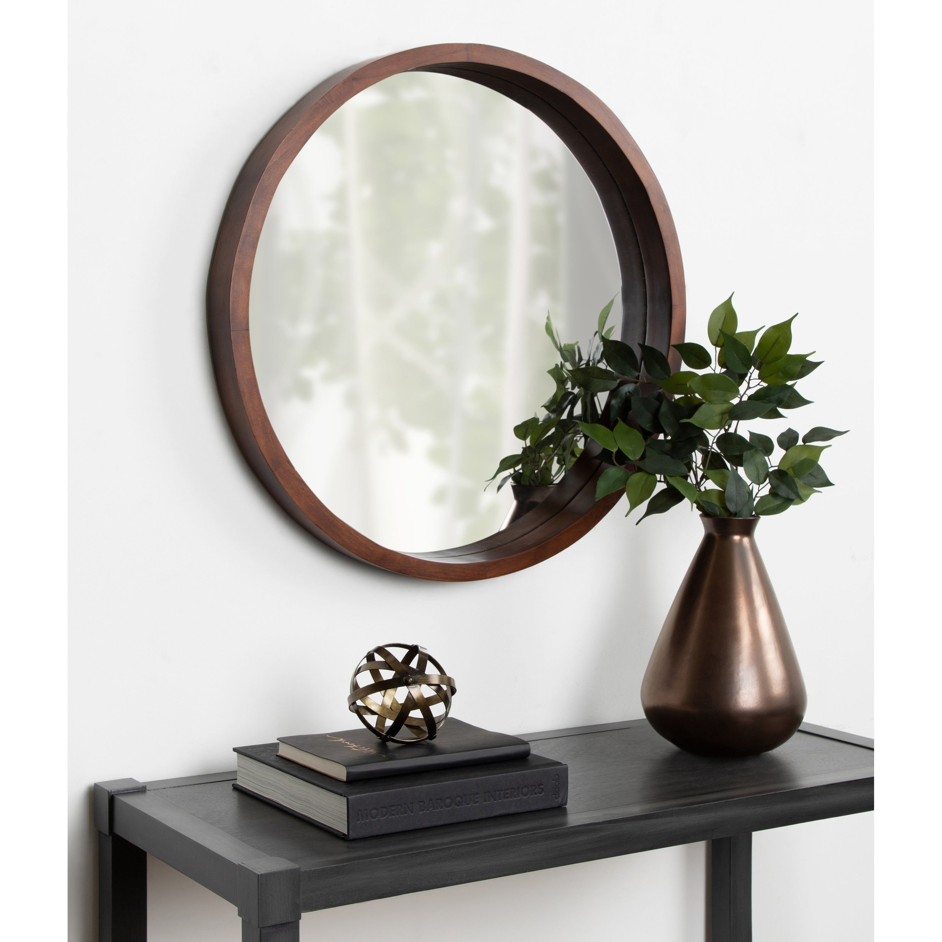 Accent Mirrors | Shop Online At Overstock Inside Oval Metallic Accent Mirrors (Image 2 of 20)