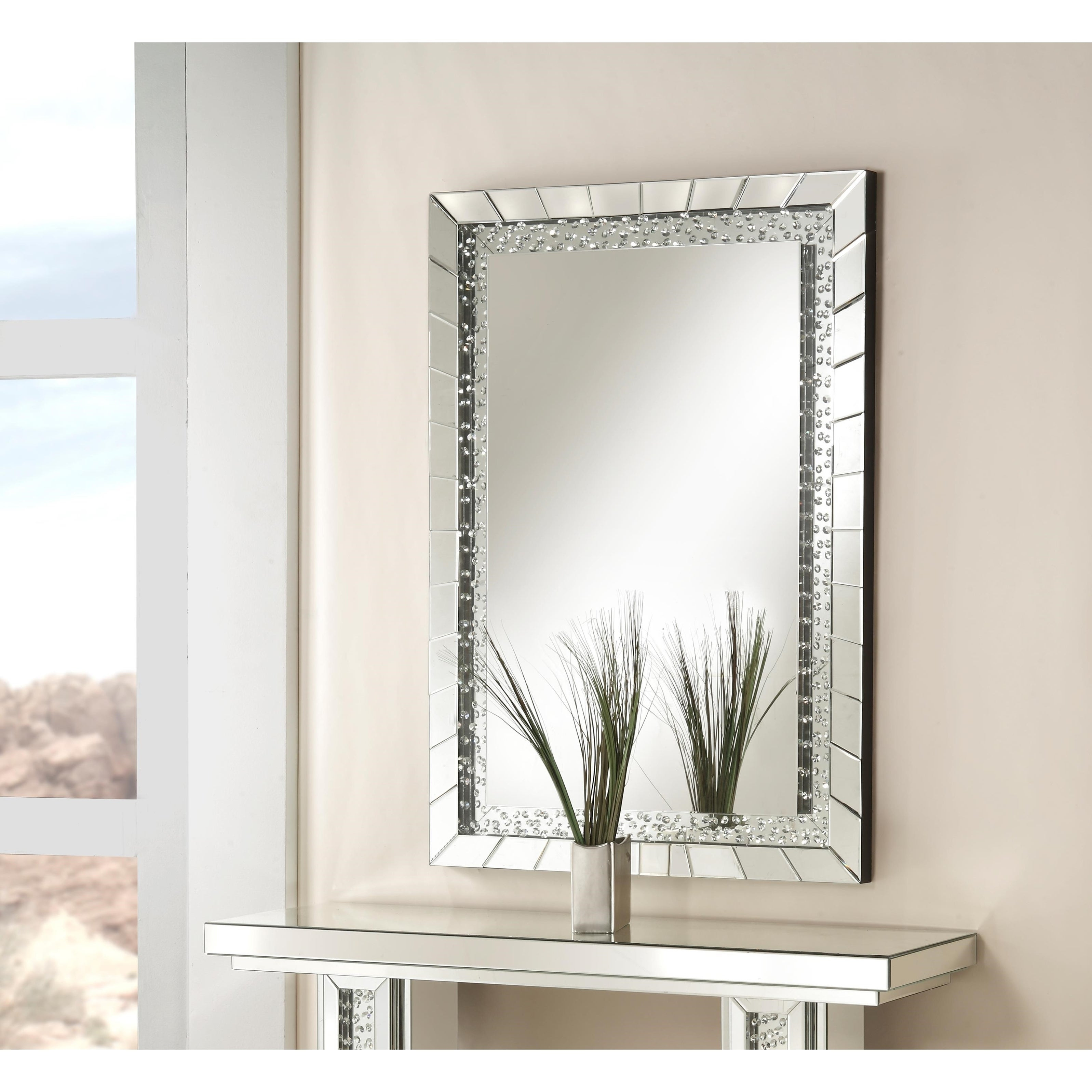 Acme Furniture Nysa Accent Wall Mirror Throughout Rectangle Accent Wall Mirrors (View 7 of 20)
