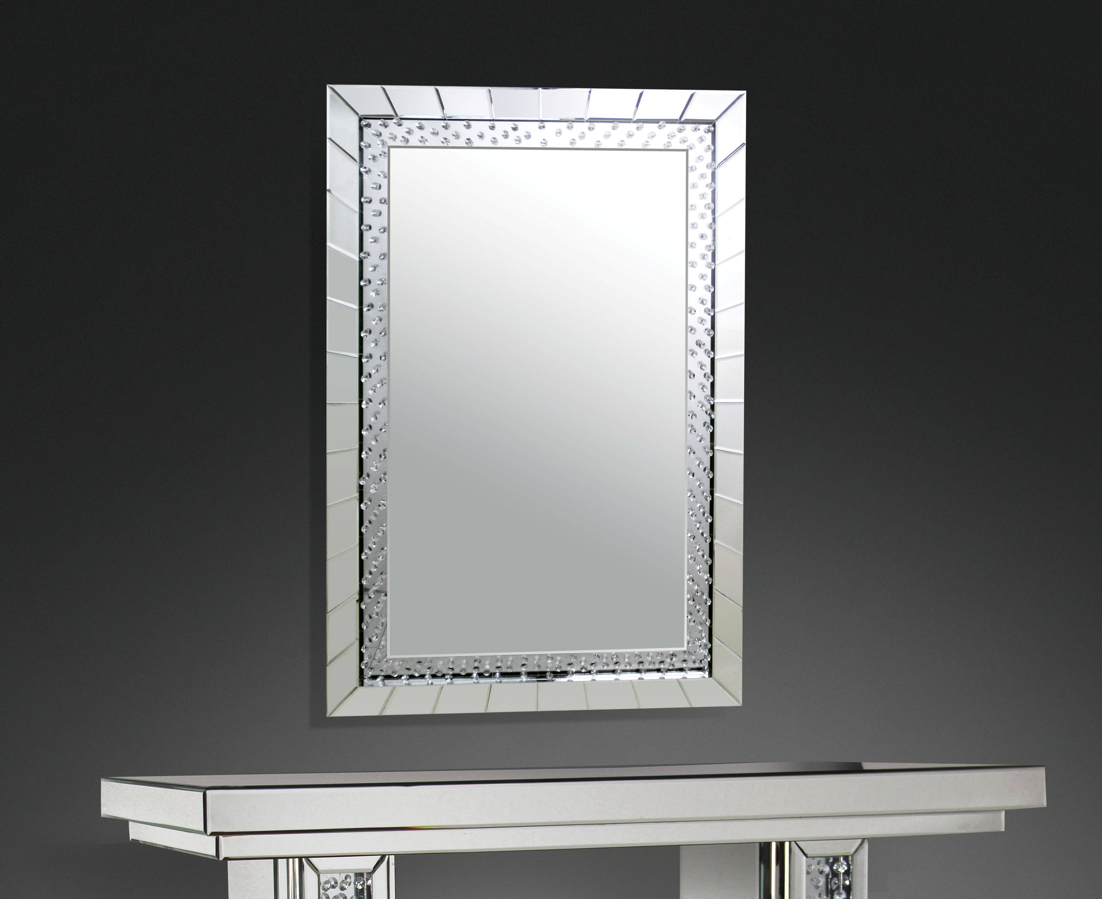 Acme Furniture Nysa Rectangle Accent Wall Mirror With Rectangle Accent Wall Mirrors (View 17 of 20)