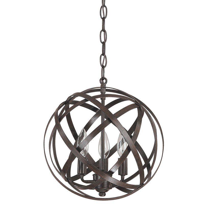 Adcock 3 Light Single Globe Pendant | Dream House In 2019 Throughout Adcock 3 Light Single Globe Pendants (Image 3 of 25)