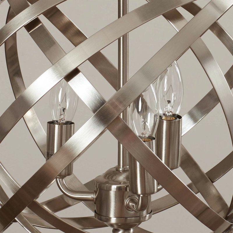 Adcock 3 Light Single Globe Pendant With Adcock 3 Light Single Globe Pendants (Image 7 of 25)
