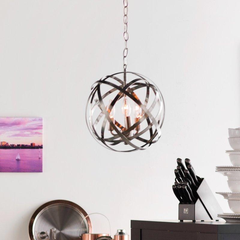 Adcock 3 Light Single Globe Pendant With Adcock 3 Light Single Globe Pendants (Image 6 of 25)