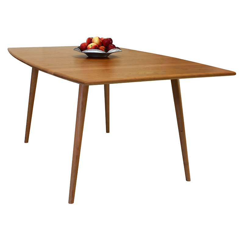 Addison Boat Top Dining Table Intended For Solid Hardwood Rectangle Mid Century Modern Coffee Tables (View 43 of 50)