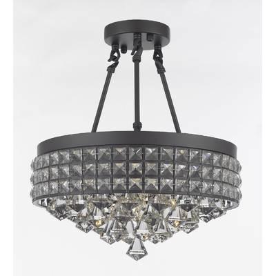 Adriana Satin Black 1 Light Single Dome Pendant In Adriana Black 1 Light Single Dome Pendants (Image 4 of 25)