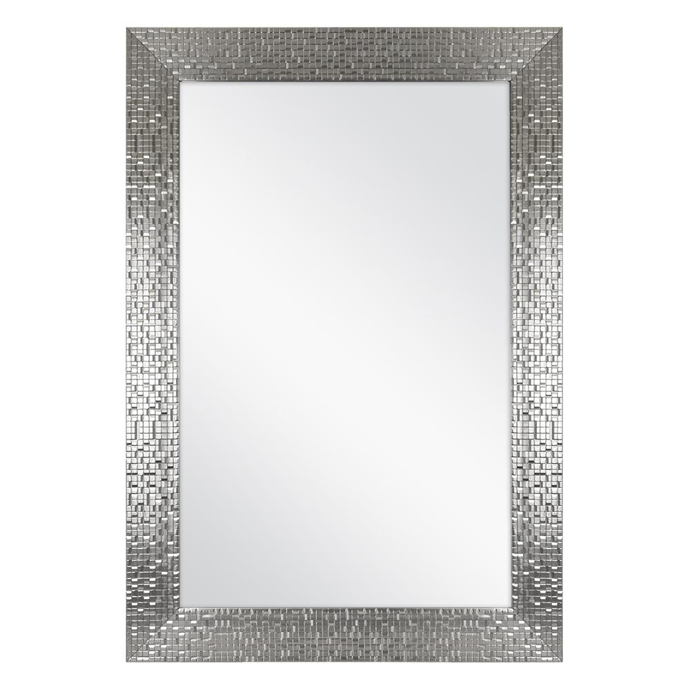 Afina Modern Luxe Round Wall Mirror Bathroom Ideas Home With Sajish Oval Crystal Wall Mirrors (View 19 of 20)