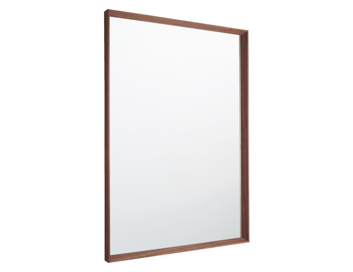 Agatha 70 X 100Cm Walnut Rectangular Wall Mirror Regarding Walnut Wood Wall Mirrors (View 14 of 20)