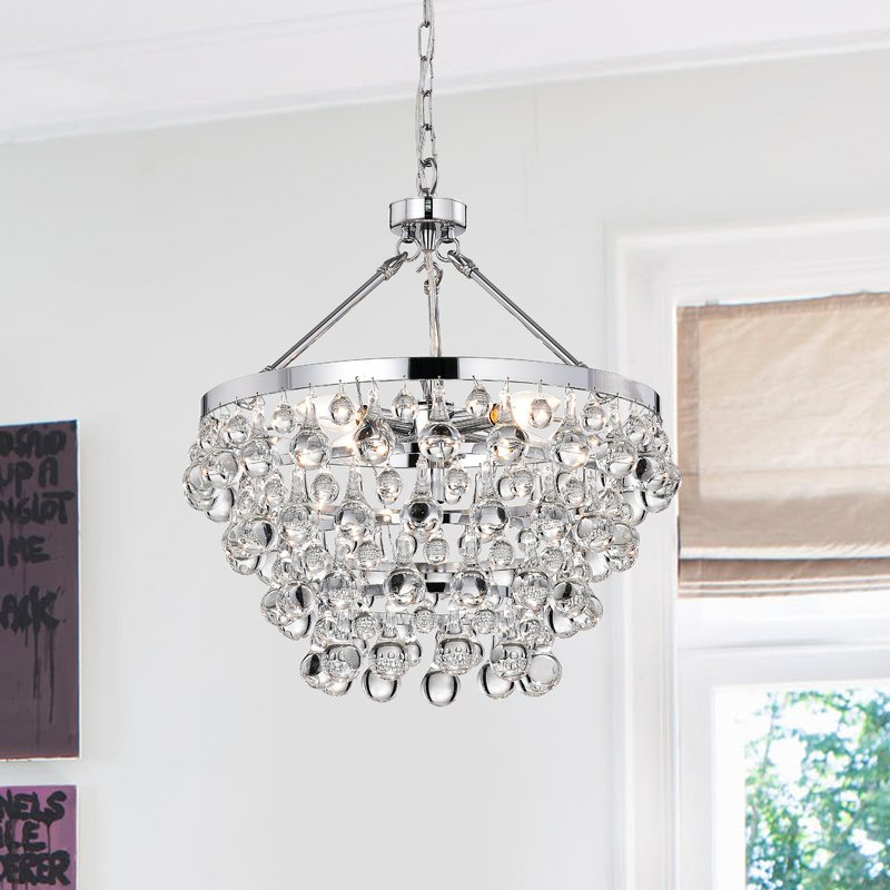 Ahern 5 Light Crystal Chandelier With Clea 3 Light Crystal Chandeliers (Image 4 of 20)
