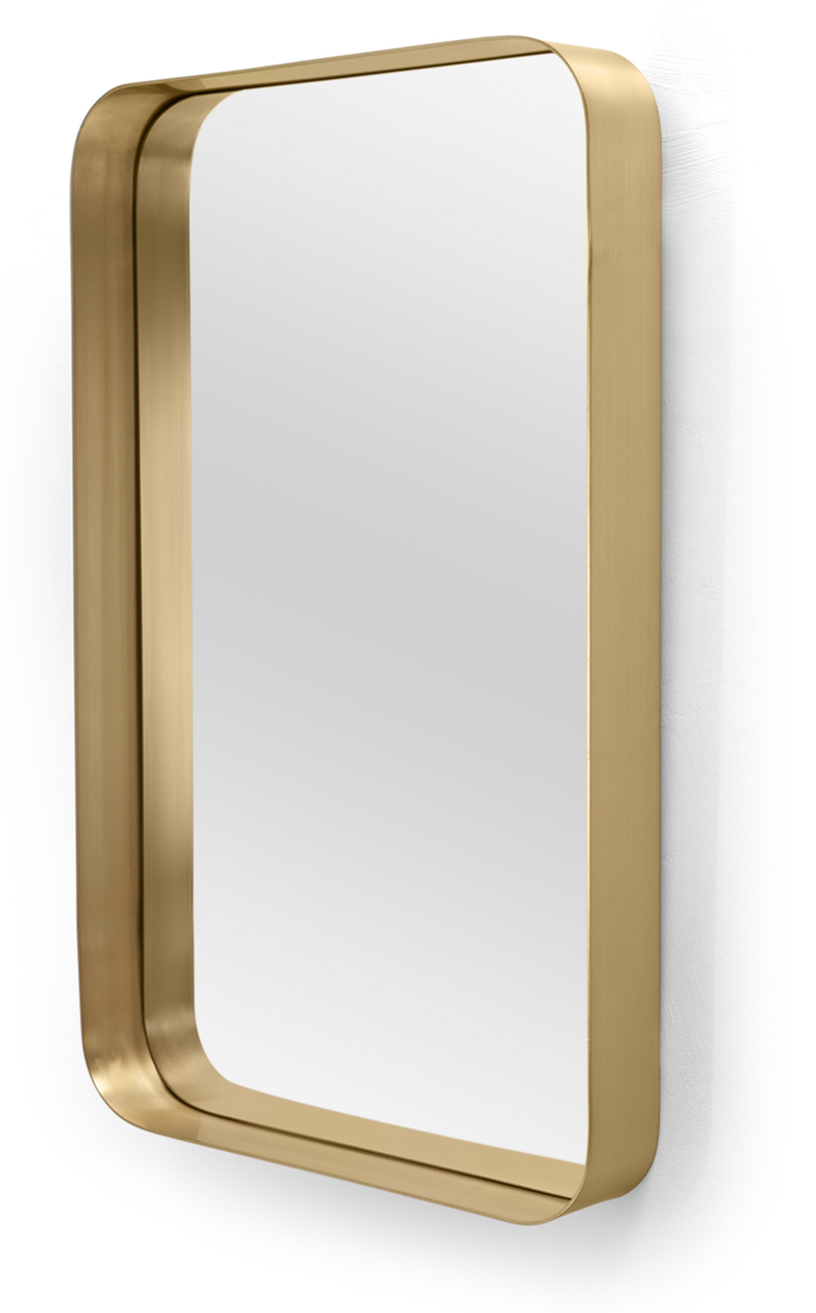 Alana Rectangular Mirror 50 X 80 Cm, Brushed Brass | Mirror Within Lugo Rectangle Accent Mirrors (Image 2 of 20)