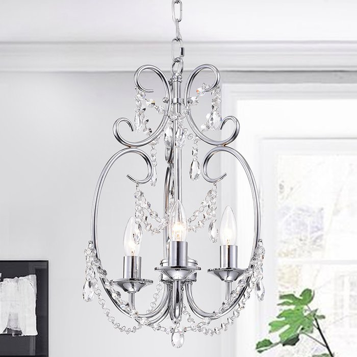 Alasdair 3 Light Candle Style Chandelier For Hesse 5 Light Candle Style Chandeliers (Image 2 of 20)