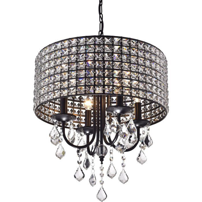 Albano 4 Light Crystal Chandelier | Dining Room Ideas Pertaining To Albano 4 Light Crystal Chandeliers (View 5 of 20)