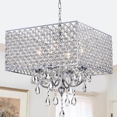 Albano 4 Light Crystal Chandelier | Home | Chandelier Intended For Albano 4 Light Crystal Chandeliers (View 8 of 20)