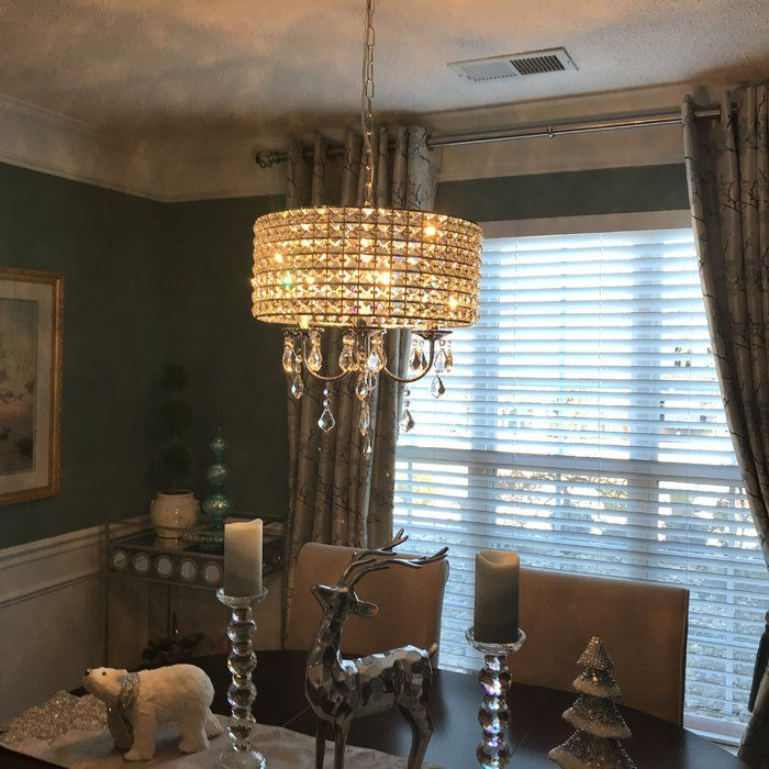 Albano 4 Light Crystal Chandelier In 2019 | Rectangle For Albano 4 Light Crystal Chandeliers (View 7 of 20)