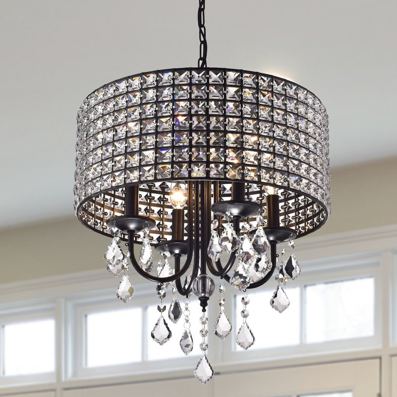 Albano 4 Light Crystal Chandelier In Von 4 Light Crystal Chandeliers (Image 1 of 20)
