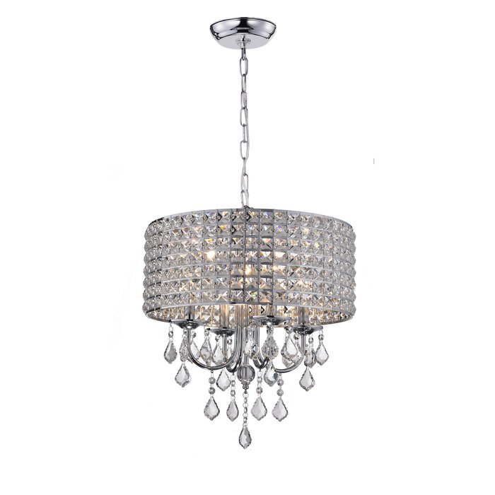 Albano 4 Light Crystal Chandelier With Albano 4 Light Crystal Chandeliers (View 6 of 20)