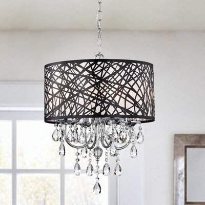 Albano 4 Light Crystal Chandelier With Regard To Albano 4 Light Crystal Chandeliers (View 17 of 20)
