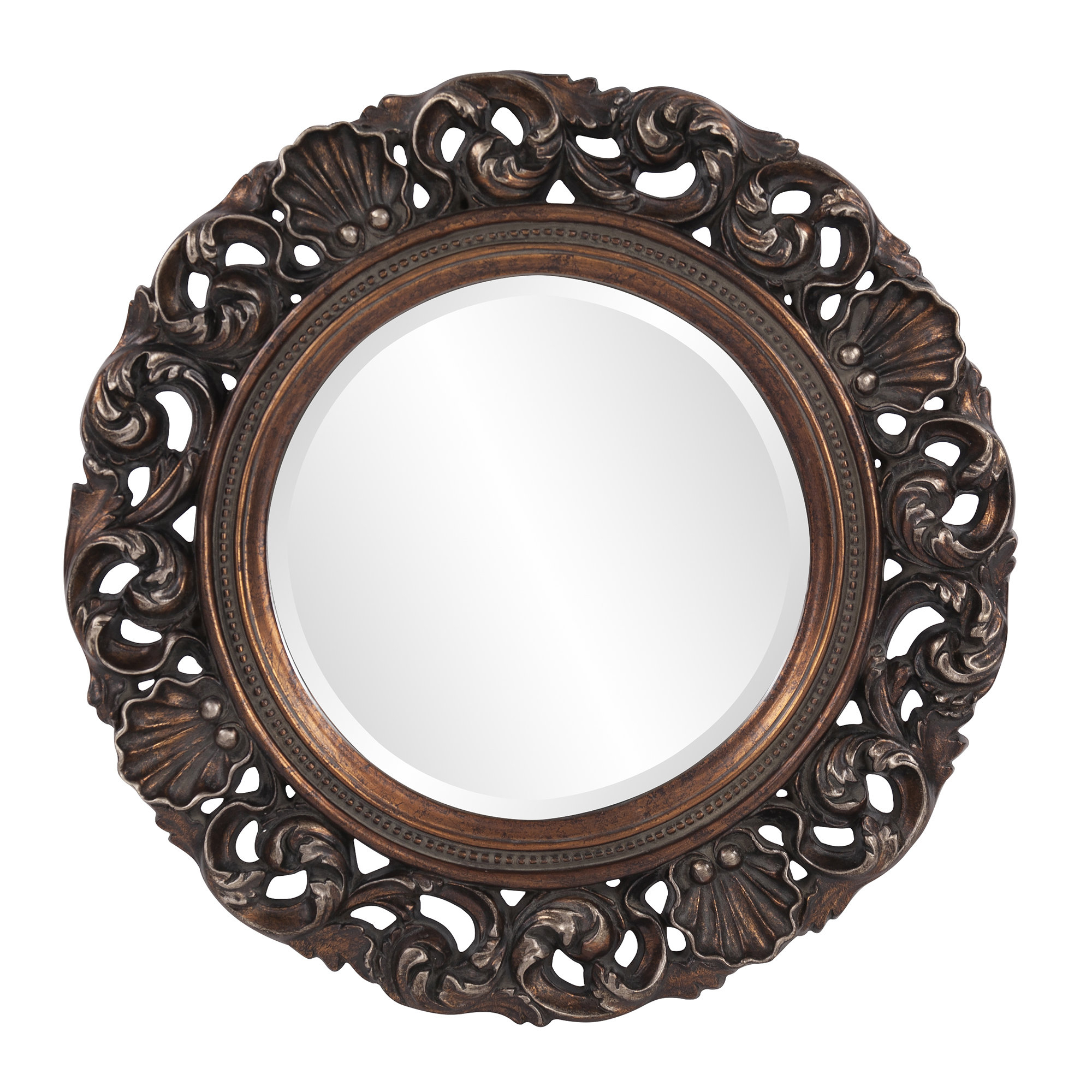 Alcmene Round Wall Mirror Pertaining To Alissa Traditional Wall Mirrors (View 14 of 20)